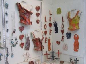 Cheryl's pottery display