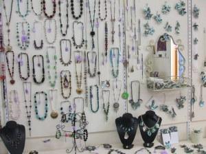 Leah's jewellry and Lynn's paua art